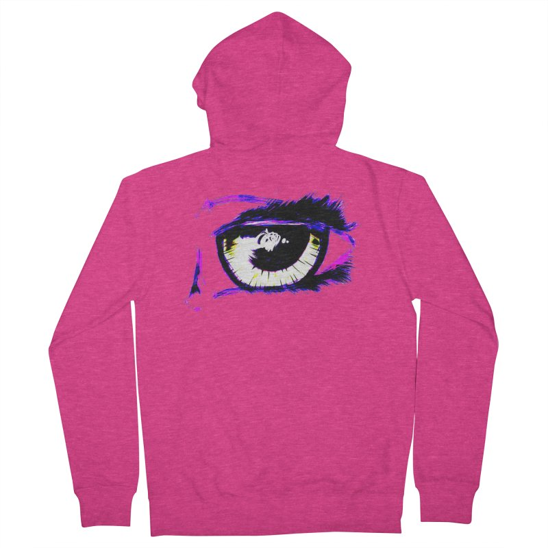 Dayglo Spy Women's French Terry Zip-Up Hoody by 7thSin Apparel