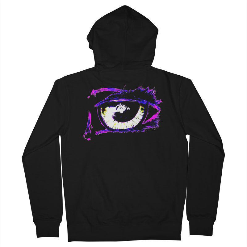 Dayglo Spy Men's French Terry Zip-Up Hoody by 7thSin Apparel