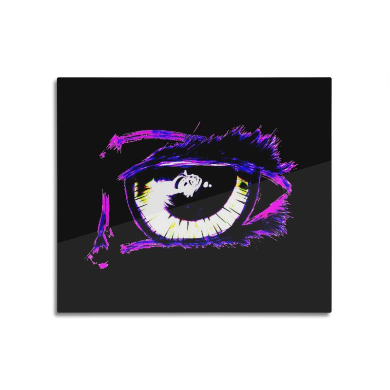 Dayglo Spy Home Mounted Aluminum Print by 7thSin Apparel