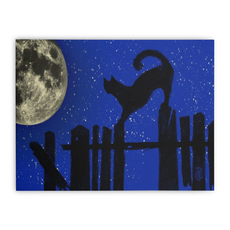 I see the moon Home Stretched Canvas by 7thSin Apparel