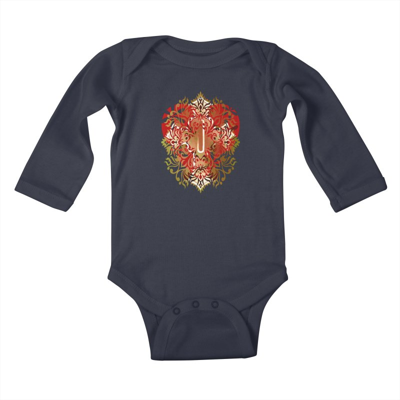 Gothic Red Kids Baby Longsleeve Bodysuit by 7thSin Apparel