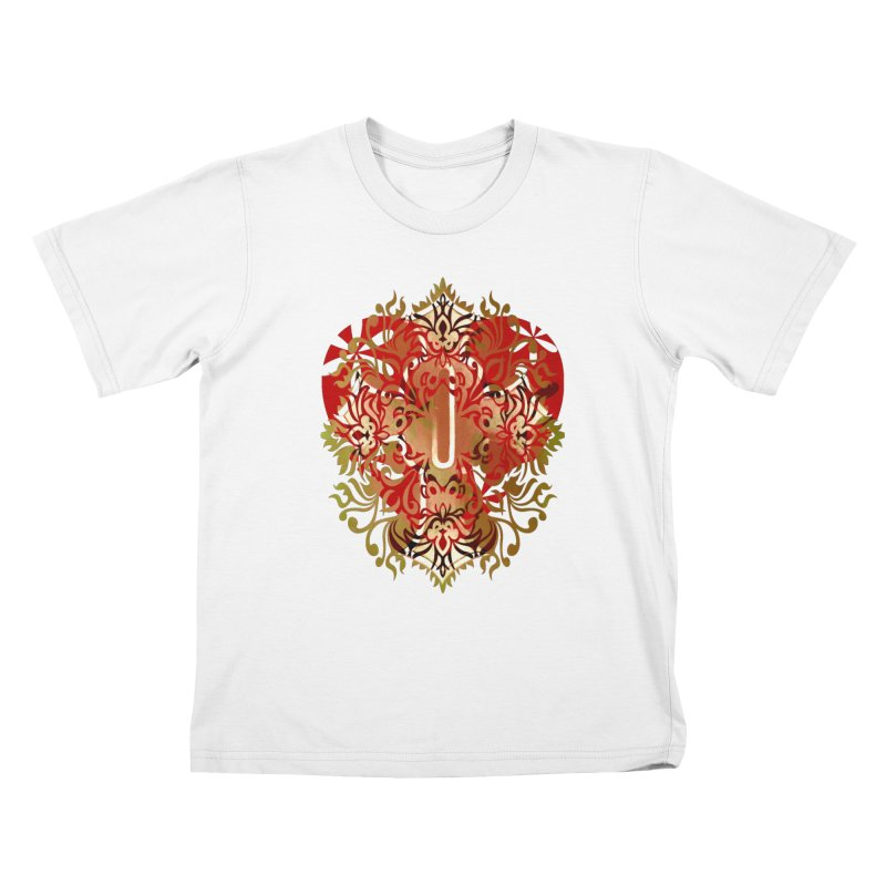 Gothic Red Kids T-Shirt by 7thSin Apparel