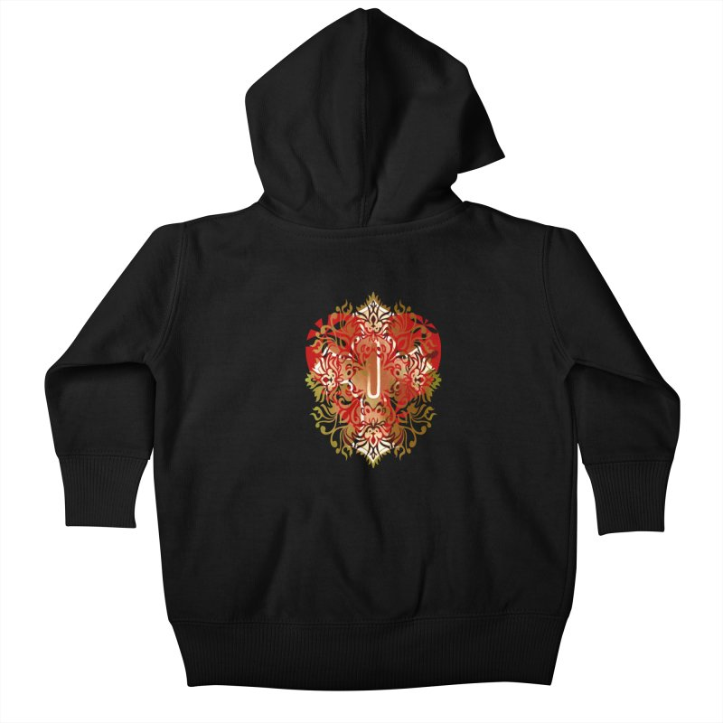 Gothic Red Kids Baby Zip-Up Hoody by 7thSin Apparel