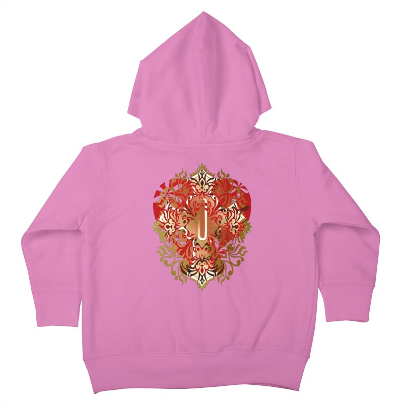 Gothic Red Kids Toddler Zip-Up Hoody by 7thSin Apparel