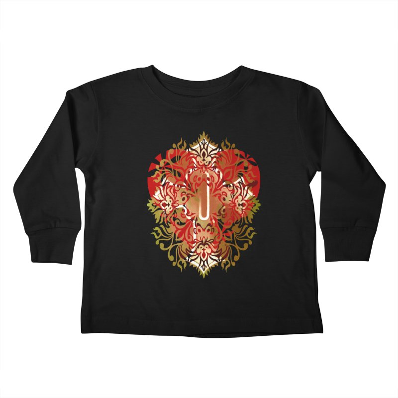 Gothic Red Kids Toddler Longsleeve T-Shirt by 7thSin Apparel