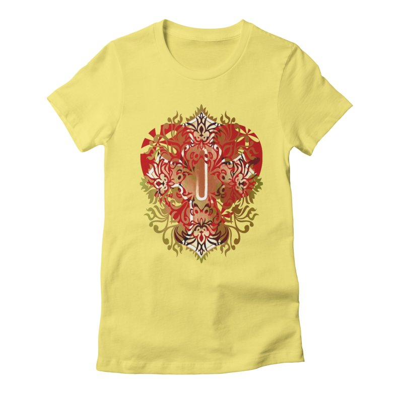 Gothic Red Women's Fitted T-Shirt by 7thSin Apparel