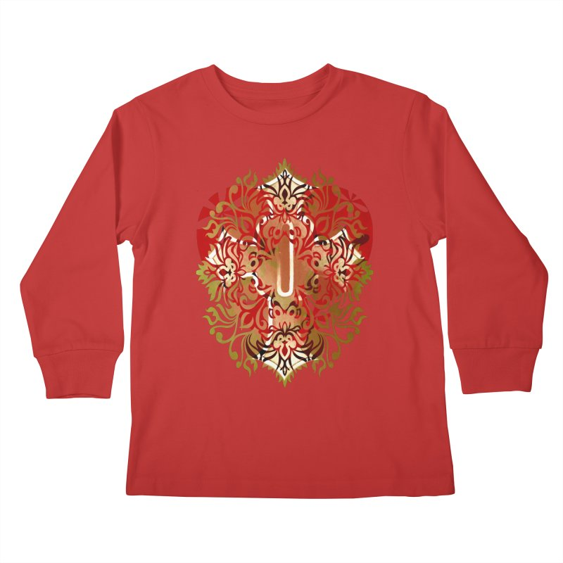 Gothic Red Kids Longsleeve T-Shirt by 7thSin Apparel