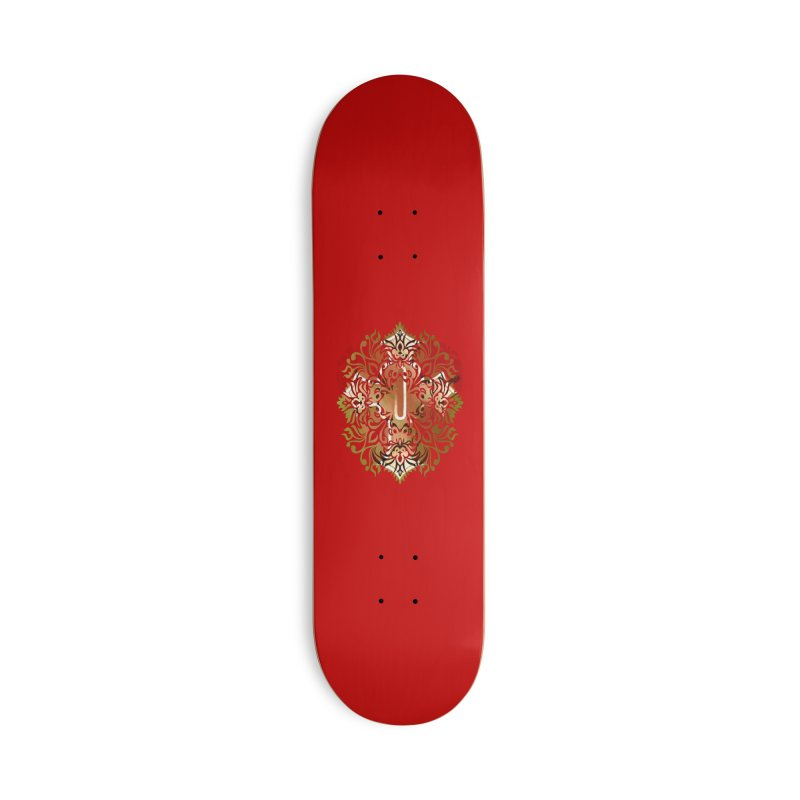 Gothic Red Accessories Deck Only Skateboard by 7thSin Apparel