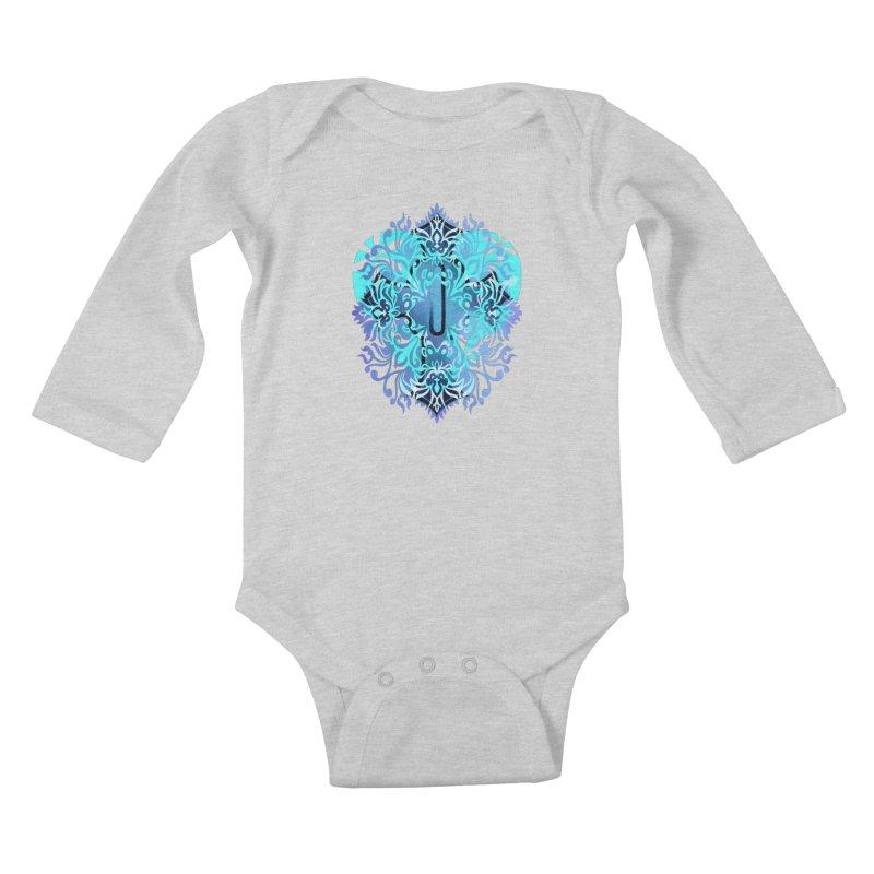 Gothic Blue Kids Baby Longsleeve Bodysuit by 7thSin Apparel