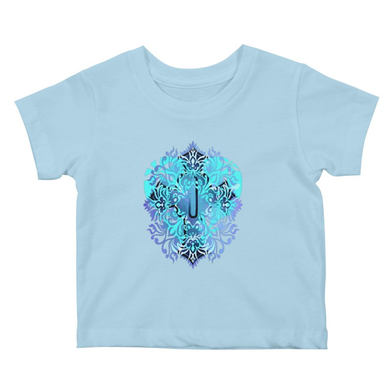 Gothic Blue Kids Baby T-Shirt by 7thSin Apparel