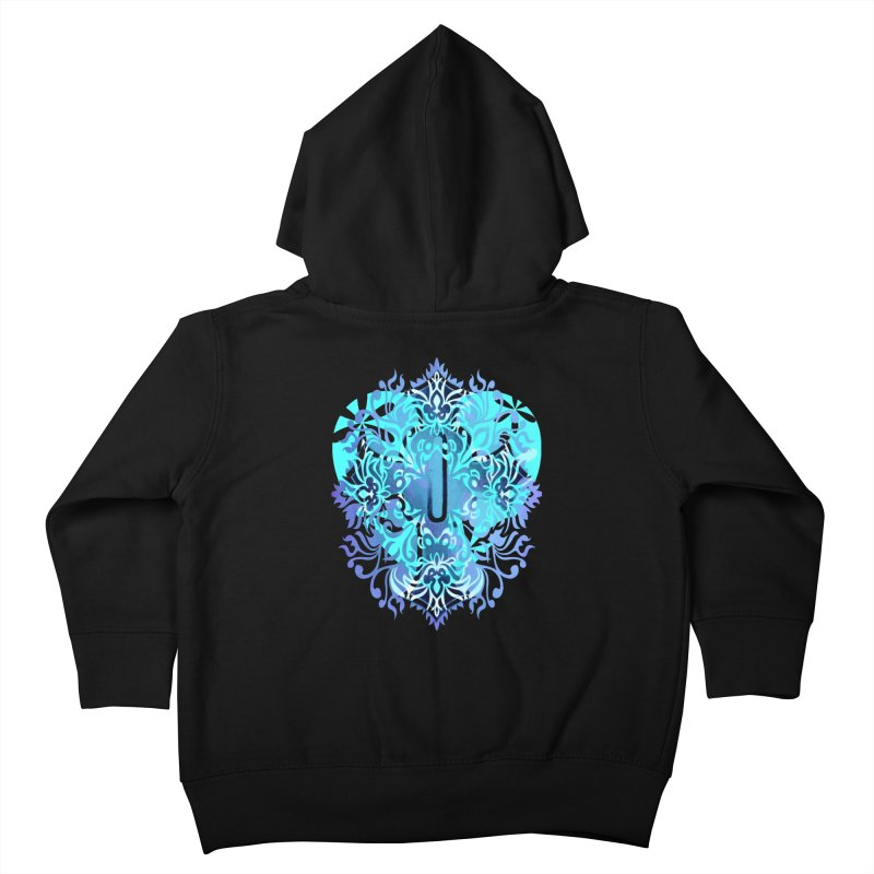 Gothic Blue Kids Toddler Zip-Up Hoody by 7thSin Apparel