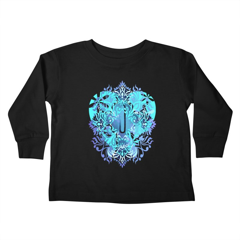 Gothic Blue Kids Toddler Longsleeve T-Shirt by 7thSin Apparel