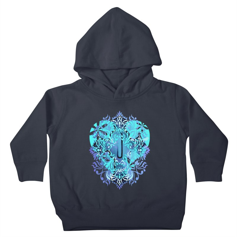 Gothic Blue Kids Toddler Pullover Hoody by 7thSin Apparel