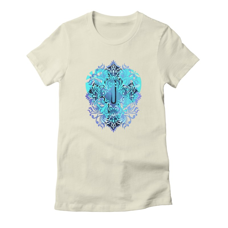 Gothic Blue Women's Fitted T-Shirt by 7thSin Apparel