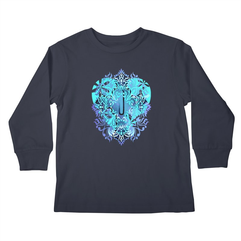 Gothic Blue Kids Longsleeve T-Shirt by 7thSin Apparel