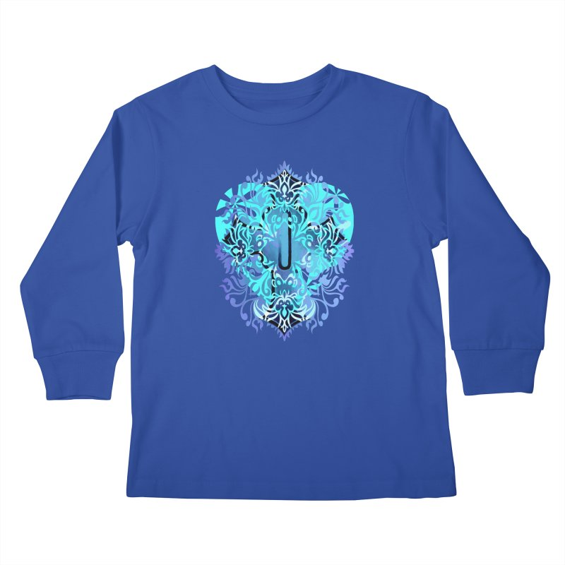 Gothic Blue Kids Longsleeve T-Shirt by 7thSin Apparel