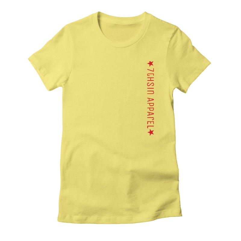 7thSin RedLine Women's Fitted T-Shirt by 7thSin Apparel