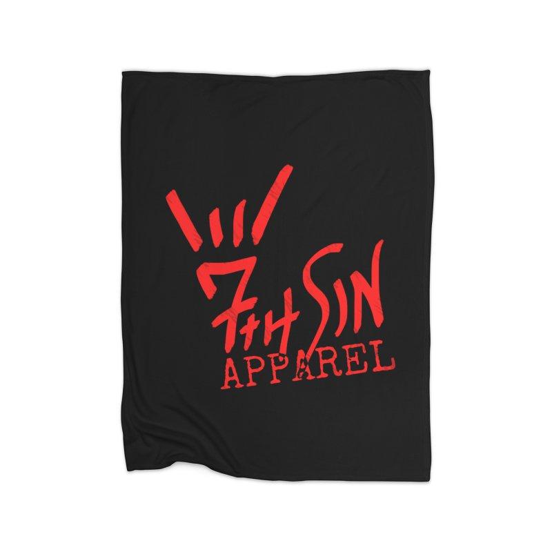 7thSin Hell Yeah Logo Home Fleece Blanket Blanket by 7thSin Apparel