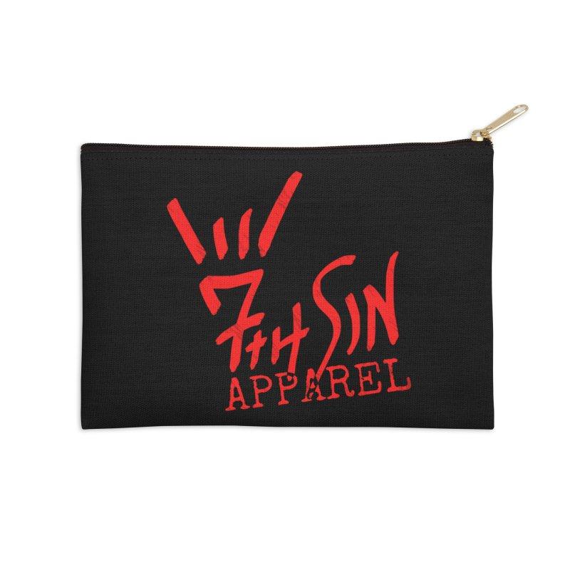 7thSin Hell Yeah Logo Accessories Zip Pouch by 7thSin Apparel