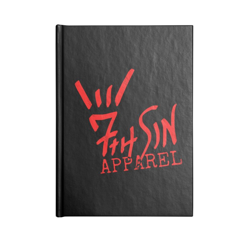 7thSin Hell Yeah Logo Accessories Lined Journal Notebook by 7thSin Apparel
