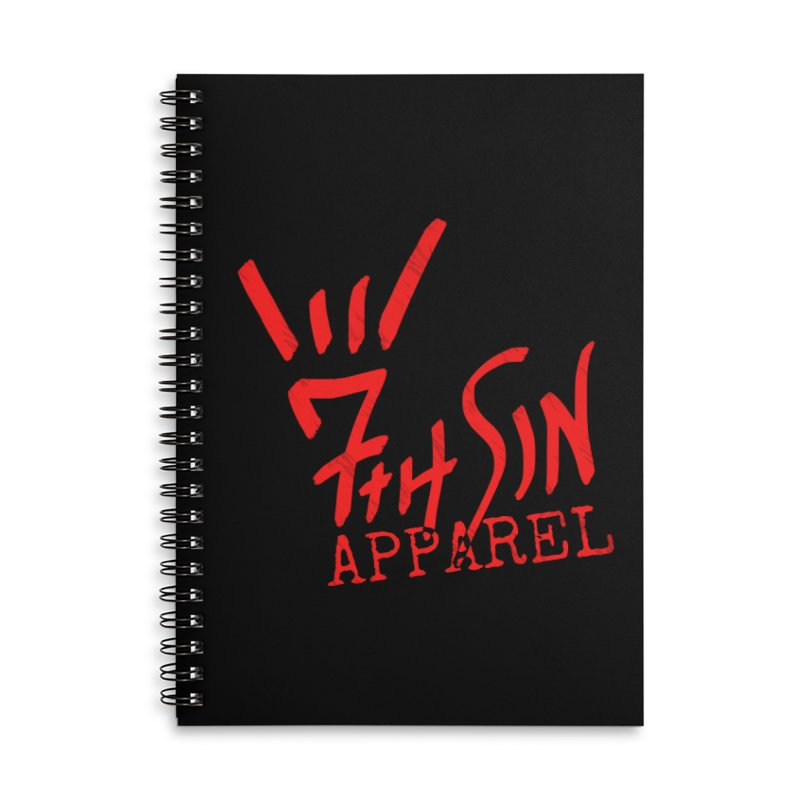 7thSin Hell Yeah Logo Accessories Lined Spiral Notebook by 7thSin Apparel