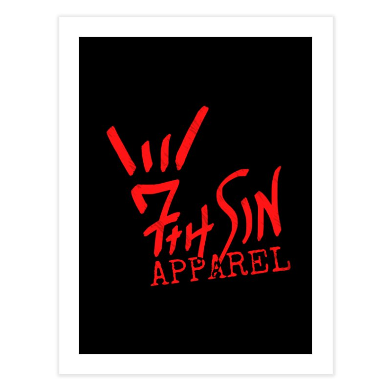 7thSin Hell Yeah Logo Home Fine Art Print by 7thSin Apparel