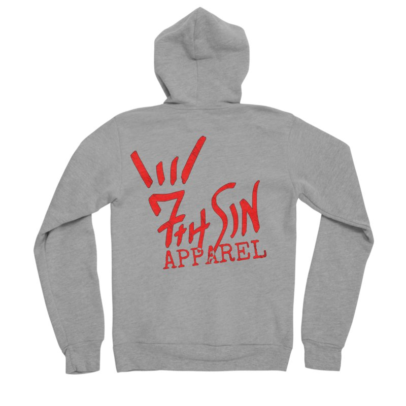 7thSin Hell Yeah Logo Women's Sponge Fleece Zip-Up Hoody by 7thSin Apparel