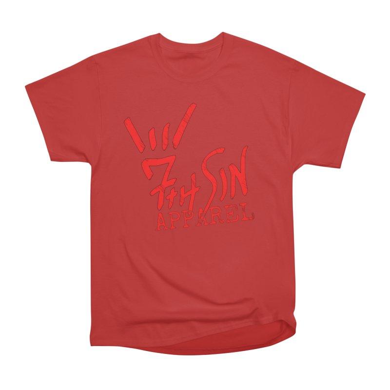 7thSin Hell Yeah Logo Women's Heavyweight Unisex T-Shirt by 7thSin Apparel