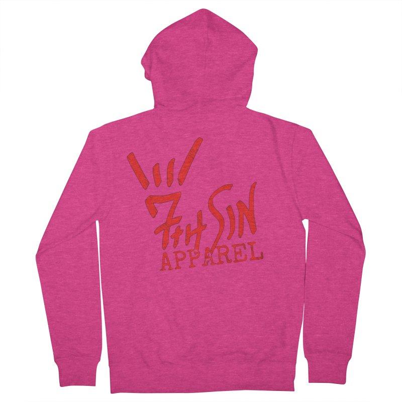 7thSin Hell Yeah Logo Women's French Terry Zip-Up Hoody by 7thSin Apparel