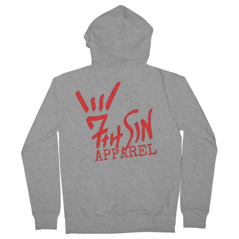 7thSin Hell Yeah Logo Men's French Terry Zip-Up Hoody by 7thSin Apparel