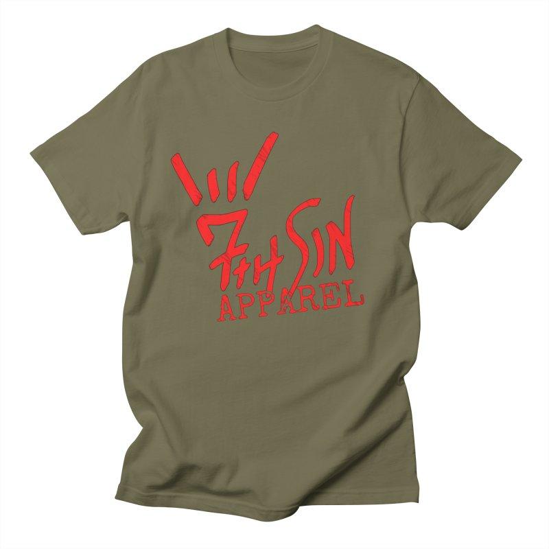 7thSin Hell Yeah Logo Men's Regular T-Shirt by 7thSin Apparel