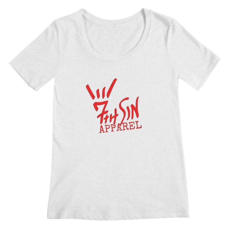 7thSin Hell Yeah Logo Women's Regular Scoop Neck by 7thSin Apparel