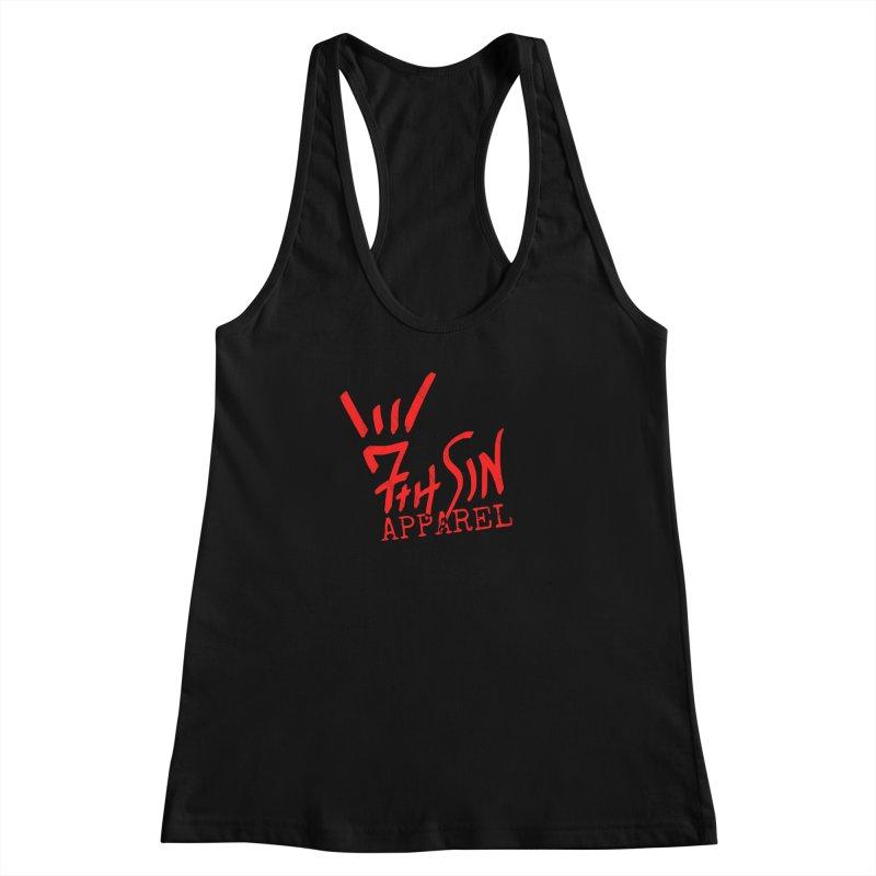 7thSin Hell Yeah Logo Women's Racerback Tank by 7thSin Apparel