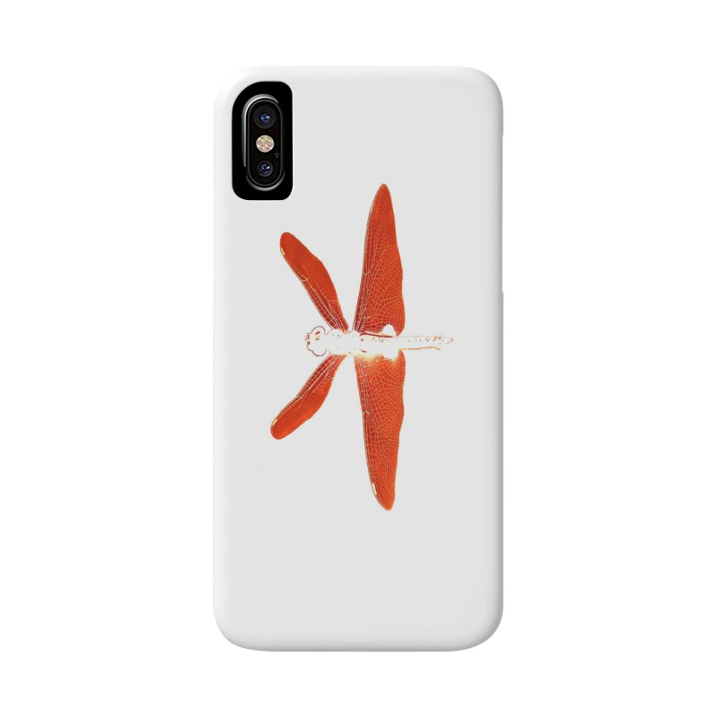Dragonfly (Orange) Accessories Phone Case by 7thSin Apparel