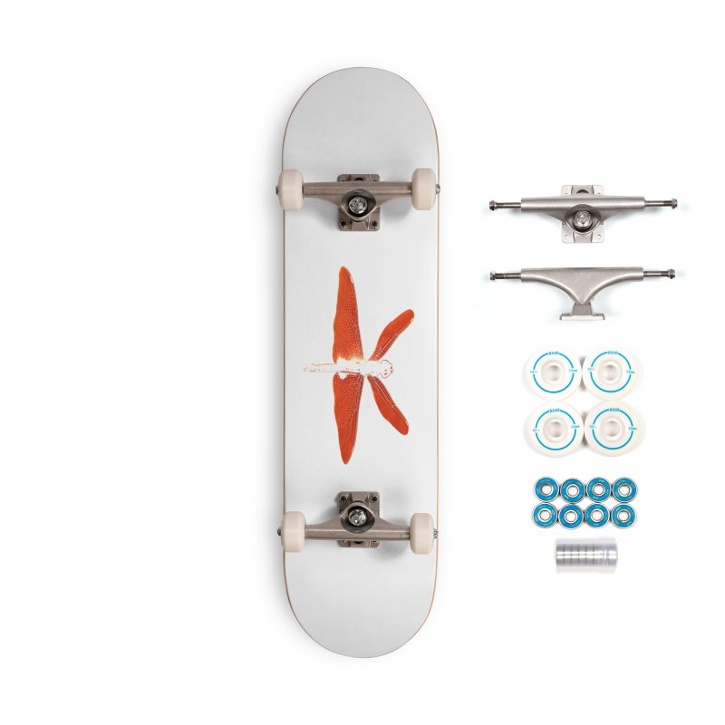 Dragonfly (Orange) Accessories Skateboard by 7thSin Apparel