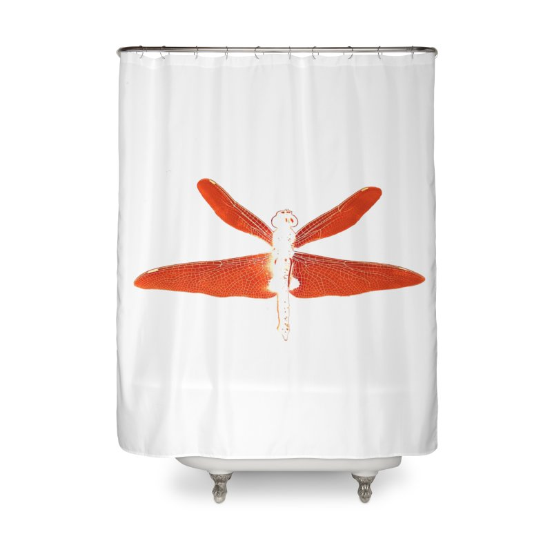 Dragonfly (Orange) Home Shower Curtain by 7thSin Apparel