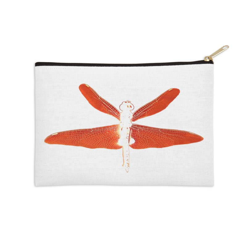 Dragonfly (Orange) Accessories Zip Pouch by 7thSin Apparel