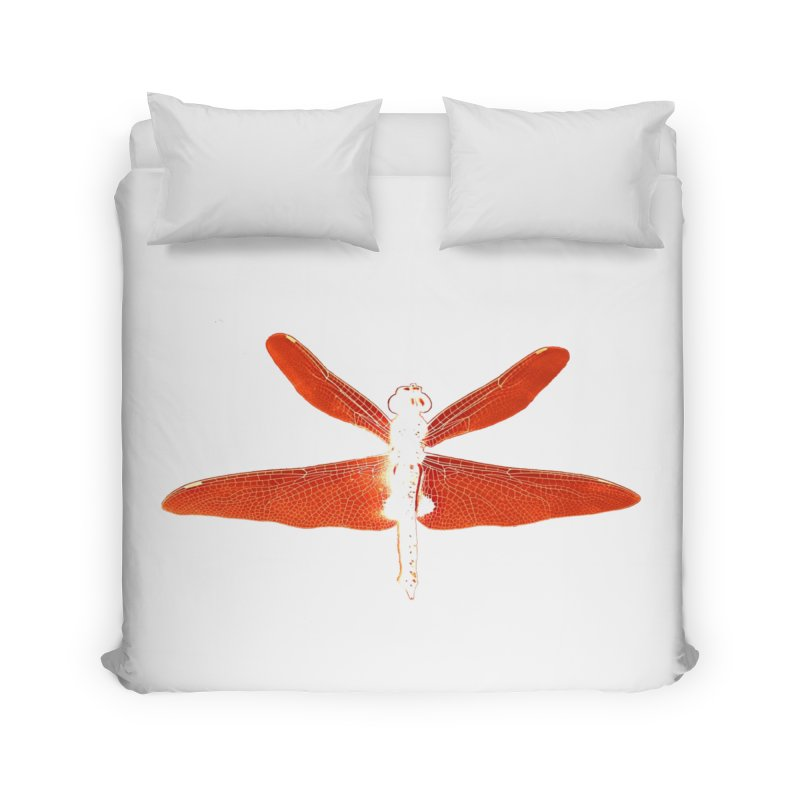 Dragonfly (Orange) Home Duvet by 7thSin Apparel