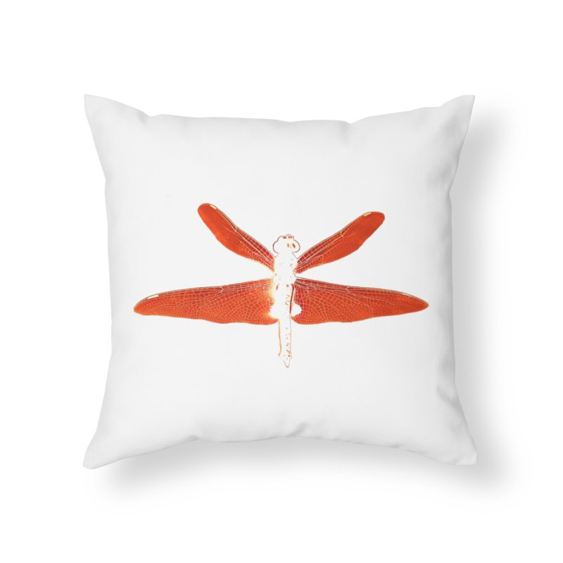 Dragonfly (Orange) Home Throw Pillow by 7thSin Apparel