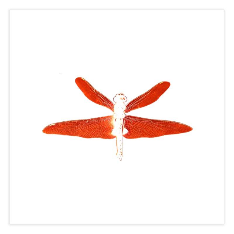 Dragonfly (Orange) Home Fine Art Print by 7thSin Apparel