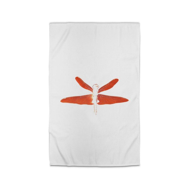 Dragonfly (Orange) Home Rug by 7thSin Apparel