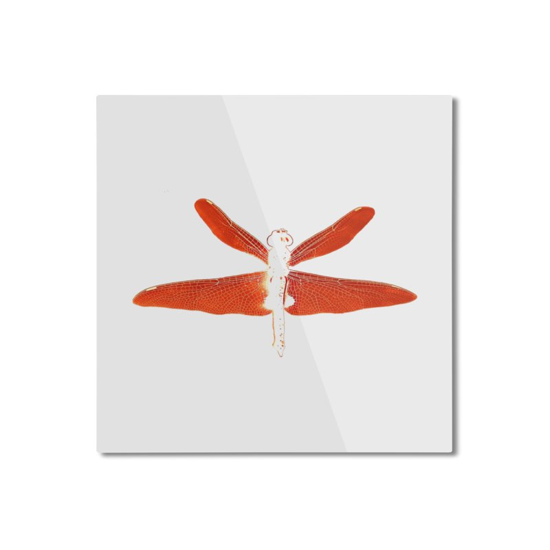 Dragonfly (Orange) Home Mounted Aluminum Print by 7thSin Apparel