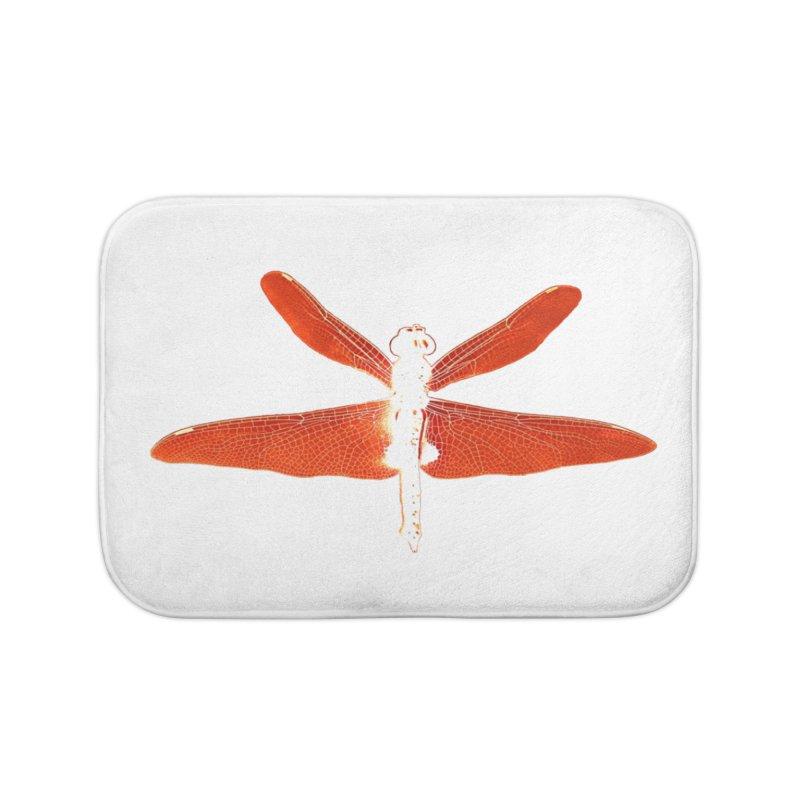 Dragonfly (Orange) Home Bath Mat by 7thSin Apparel