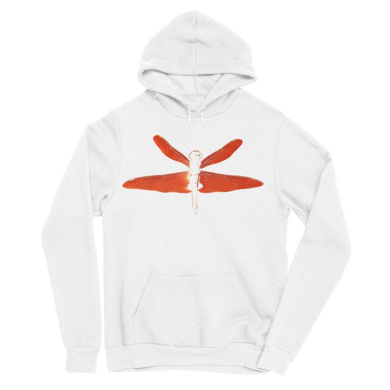 Dragonfly (Orange) Men's Sponge Fleece Pullover Hoody by 7thSin Apparel
