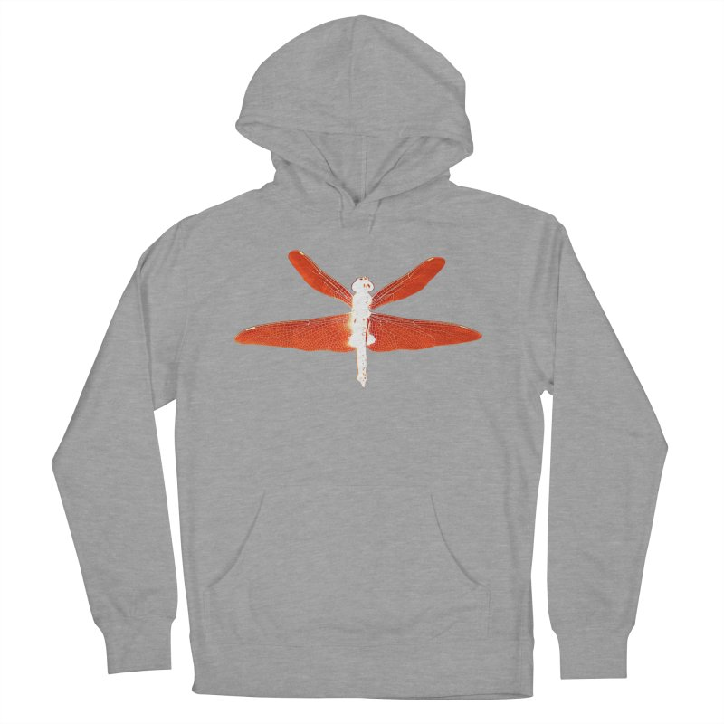 Dragonfly (Orange) Women's French Terry Pullover Hoody by 7thSin Apparel