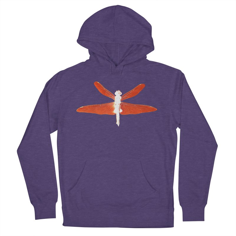 Dragonfly (Orange) Men's French Terry Pullover Hoody by 7thSin Apparel