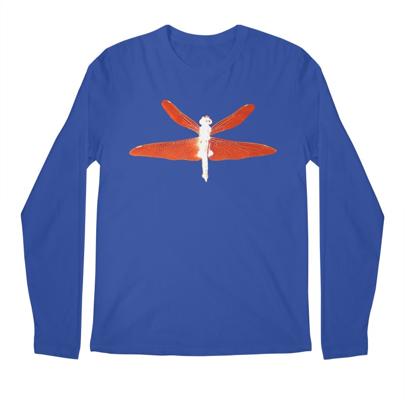 Dragonfly (Orange) Men's Regular Longsleeve T-Shirt by 7thSin Apparel