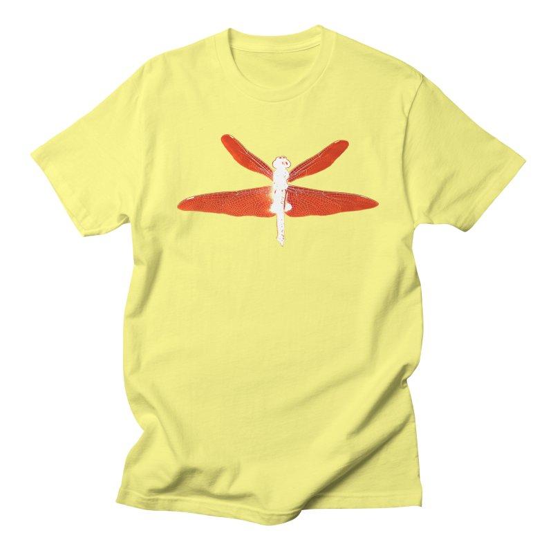 Dragonfly (Orange) Men's Regular T-Shirt by 7thSin Apparel