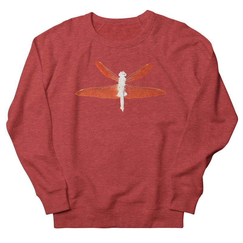 Dragonfly (Orange) Women's French Terry Sweatshirt by 7thSin Apparel