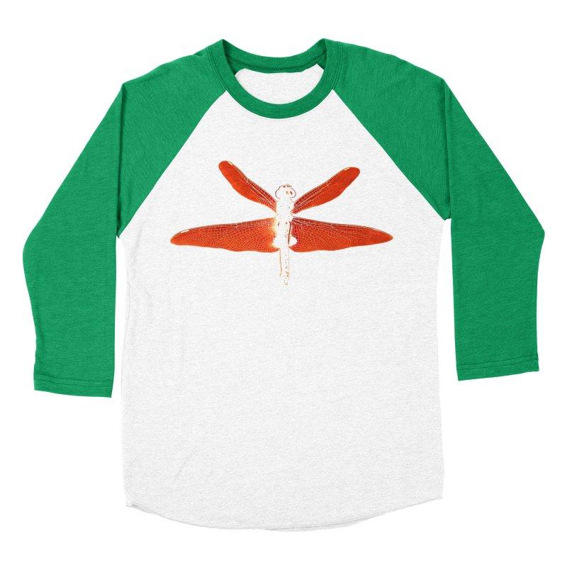 Dragonfly (Orange) Women's Baseball Triblend Longsleeve T-Shirt by 7thSin Apparel